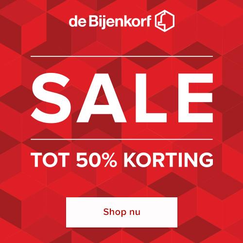 Sale bij de Bijenkorf: koop jouw favoriete artikelen met 50% korting